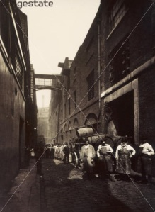Brewery Workers in St Giles Circus 1875
