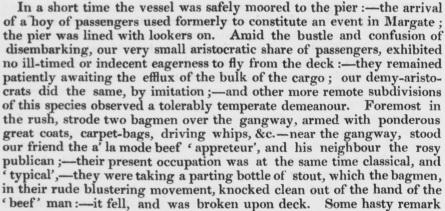 1832 Margate Hoy aristocrats disembark