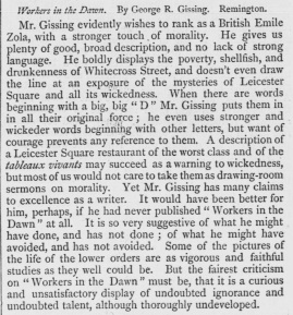 Gissing Workers in the Dawn Examiner July 17 1880 p868